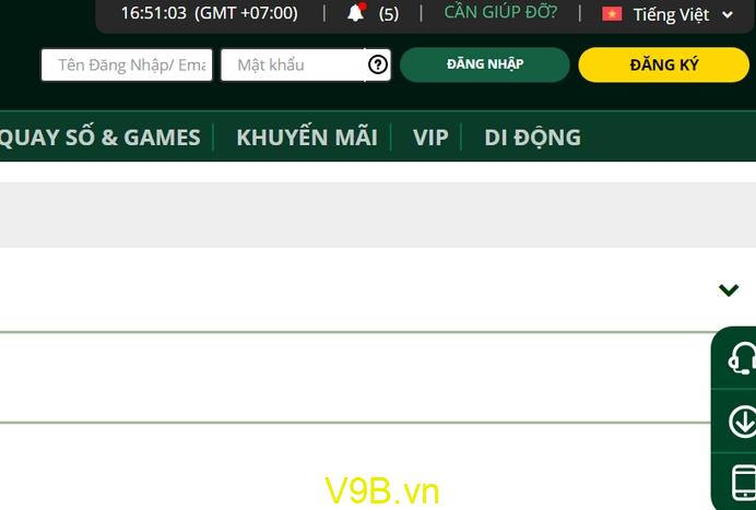 Cách đăng ký V9Bet