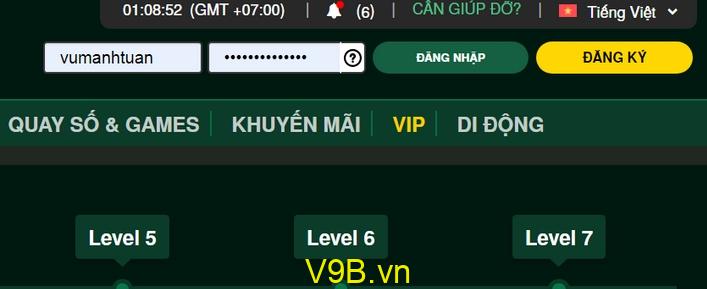Cách rút tiền từ V9Bet