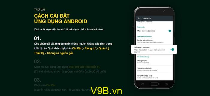 Tải V9Bet iOS