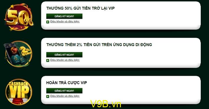 V9Bet thành viên VIP