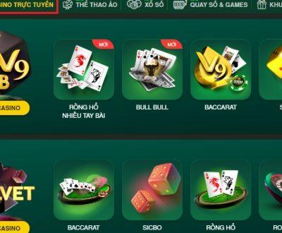 Cách chơi casino trực tuyến V9Bet cực đơn giản và dễ thắng