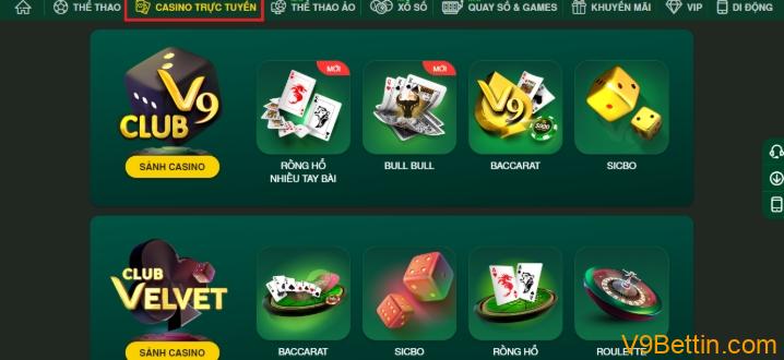 Casino trực tuyến V9Bet