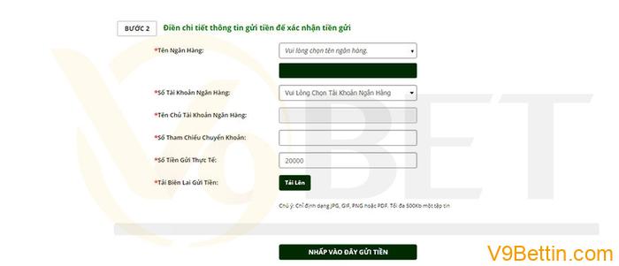 Chuyển khoản ngay vào số tài khoản được cung cấp qua Internet Banking/ SMS Banking/ Ứng Dụng Ngân Hàng từ tài khoản Ngân hàng của Quý Khách
